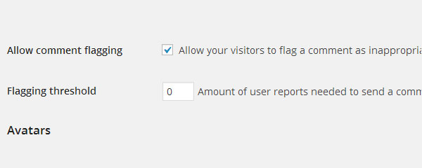 Allow users to report comments