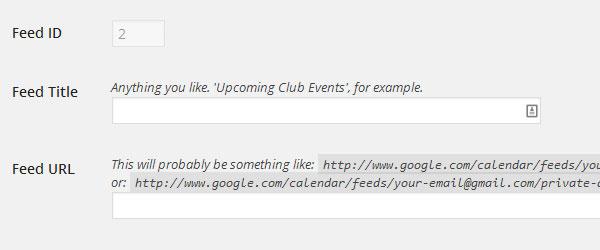 Google Calendar Feed