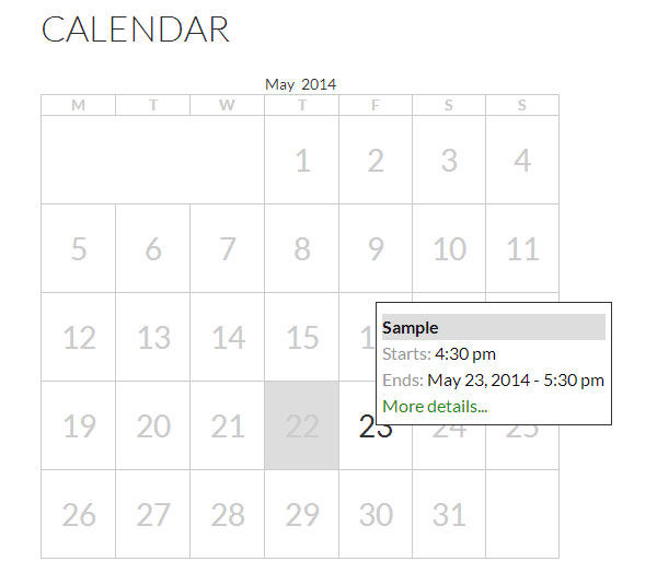 Google Calendar Sample