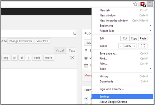 Spellcheck Chrome Settings