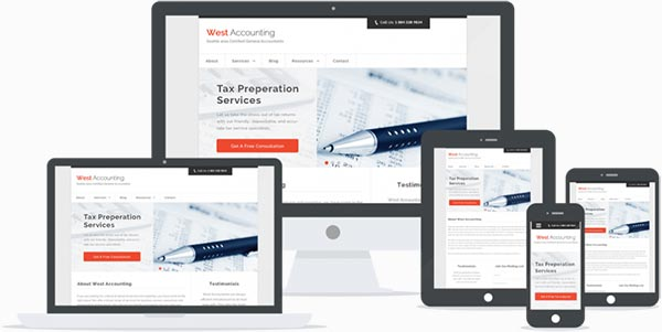Accountancy responsive theme