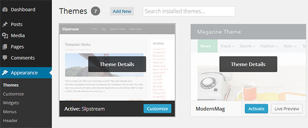 Customizing WordPress themes using Theme Customizer