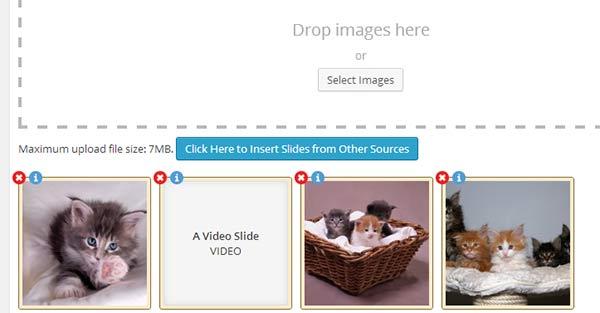 Editing slides inside a slider