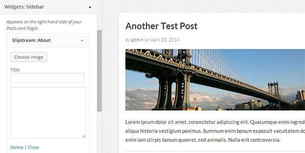 Editing widgets in WordPress theme customizer
