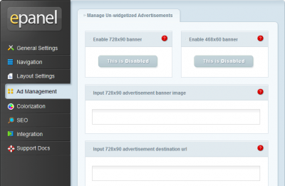 ePanel Ad Management