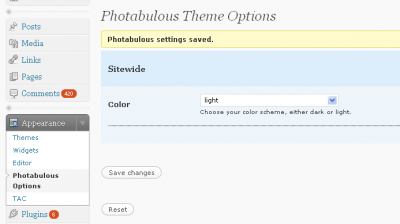 Photabulous Options