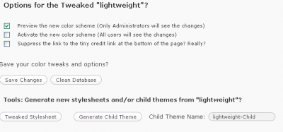 Theme Tweaker Options
