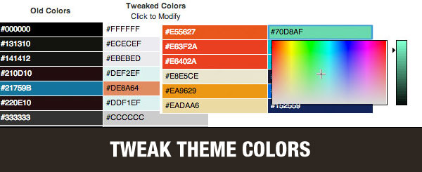 Tweak Theme Colors