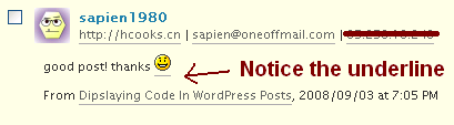 WordPress Smiley Spam